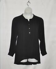 Joan Rivers Flowy Tunic with Sheer Overlay Size 1X Black