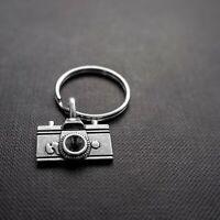 Silver DSLR Camera Photograher Keyring Keychain Handbag Charm + Free Gift Bag