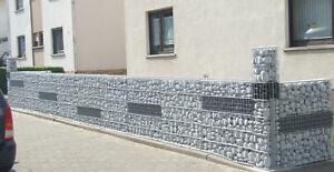 Hochwertige stabile Gabionen 180x100x25cm (HxBxT) Steinzaun Steinkorb