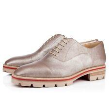 NIB Christian Louboutin Hubertus Donna Silver Oxford Loafer Sneaker Flat 39 $845