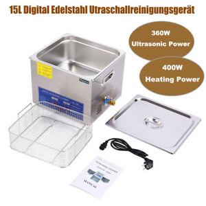 15L Digital Ultraschallreinigungsgerät Ultrasonic Ultraschallreiniger Cleaner DE