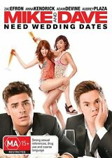 Mike And Dave Need Wedding Dates DVD NEW Zac Efron Region 4