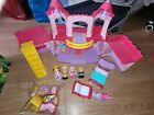 Chad Valley Tots Town Playset Princess Pink Castle & figures toy With Sound.