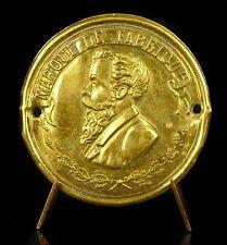 """Médaille """"Marque de fabrique"""" 2 perforationss uniface cuivre doré 3 g 40mm Medal"""