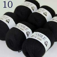 AIPYARN 6BallsX50gr Soft Super Fine Sable Cashmere Crochet Yarn Hand Knitting 10