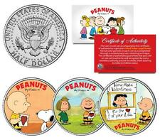 Charlie Brown PEANUTS VALENTINES Snoopy Lucy & Patty JFK Half Dollar 3-Coin Set