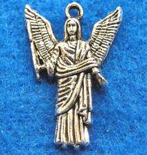 50Pcs. WHOLESALE Tibetan Silver Archangel ANGEL Joliel Charms Pendants Q0870