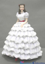 Gone With the Wind Scarlett In White Prayer Dress Music Box Retired