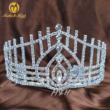 Bridal Princess Crystal Tiara Headband Wedding Crown Hair Accessory W/comb