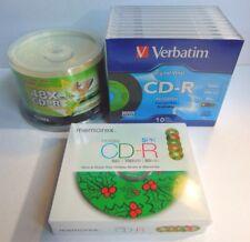 Lot of Packs CDR Audio Discs Verbatim Digital Vinyl CD-R 700 MB Memorex Ridata