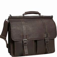 "Kenneth Cole Reaction ""Mind Your Own Business"" Colombian Leather Laptop Case ..."