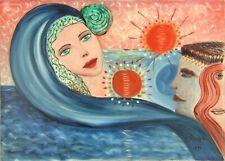"""MARIA MURGIA - """"Estate"""" - Olio su tela cm 70x50 ANNI 90 DA COLLEZIONE"""