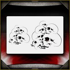 """Skull Pile 1"" Airbrush Stencil Template Airsick"