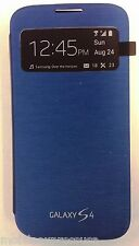 Samsung Galaxy S4 S-View Case Cover (Blue) - 100% Original Authentic OEM