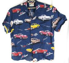 Paradise Found Shirt Mens XL Corvette Stingray Hawaiian Aloha Friday Camp