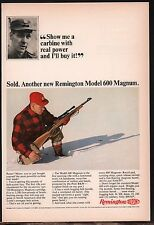 1965 REMINGTON Model 600 Magnum RIFLE AD Collectible Advertising