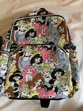 Disney Princess Jasmine Ariel Belle Cinderella Print Backpack Book Bag New