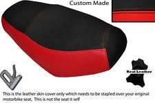 Negro Y Rojo Custom encaja superbyke Powerband 50 Doble Cuero Funda De Asiento