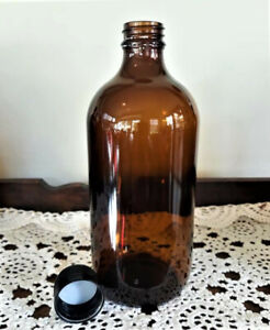 6 x 500 ml amber glass bottle with tamper-evident screw-cap lids.