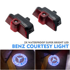 2X Ghost Car Door CREE LED Logo Welcome Light Laser Shadow for Benz C-Class W204