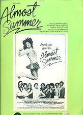 """ALMOST SUMMER"" PIANO/VOCAL/GUITAR SHEET MUSIC BRIAN WILSON/BEACH BOYS 1978 RARE"