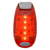 Red LED Safety Light Night Clip On Waterproof Flashing Running Cycling Bike