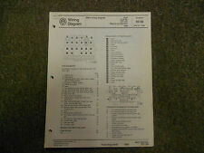 1989 VW Golf Diesel GL GTI Seatbelt Auto Trans Wiring Diagram Service Manual OEM