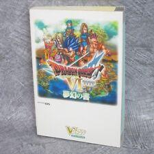 DRAGON QUEST VI 6 Maboroshi Daichi Mugen Guide w/Sticker Map Book DS VJ31*