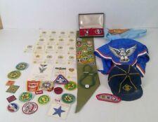 Collection Eagle Boy Scouts Sash Patches Medal Original Cards Neckerchiefs 70s