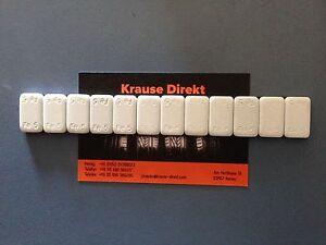 4 x Kleberiegel 60g Weiß Auswuchtgewichte Klebegewichte 12x5g Riegel 3,8mm