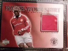 Upper Deck Manchester United Legends 2002 Dwight Yorke Match-Worn Shirt Card