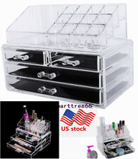 Us Acrylic Cosmetic Organizer 4 Drawer Makeup Case Jewelry Storage Holder Box