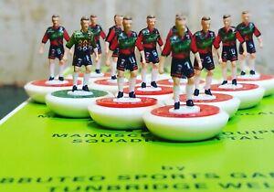 Glentoran 1995 home Subbuteo team Handpainted And Decals