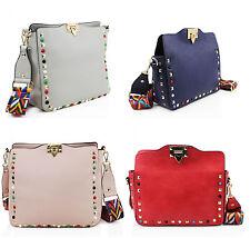 Ladies Large & Medium Studded Cross Body Women Girls Shoulder Bags Aztec Straps