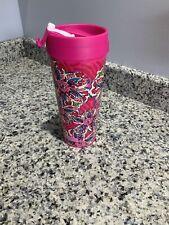 Vera Bradley Sunburst Floral Travel Mug. Pink. NEW.