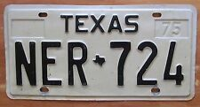 Texas 1975 License Plate NICE QUALITY # NER-724