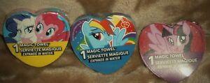 (3) Disney Magic Towels 1.5 in x 11.5 in Wash Cloth My Little Pony