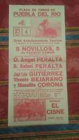 1984 Cartel Plaza de Toros de Puebla del Rio Gran Acontecimineto Taurino