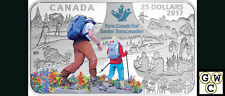 2017 Rectangular'The Great Trail' Color Prf $25 Silver Coin 1.5oz .9999(18214)NT