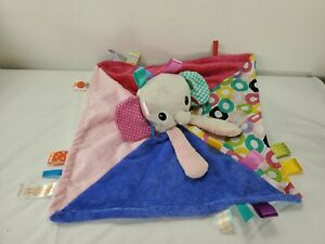 Bright Starts Taggies Elephant Lovey Baby Security Blanket Sensory Plush