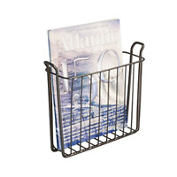 Steel Wire Wall Mount Newspaper and Magazine Holder Rack for Bathroom Organizati