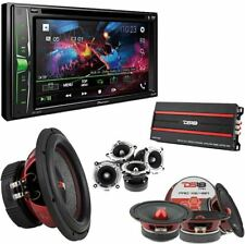 "DS18 Surround Car System Package with 6.2"" Touchscreen Pioneer Double Din Stereo"