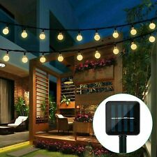 31FT 50 LED Solar String Light Garden Path Yard Decor Lamp Outdoor Waterproof