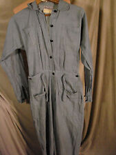 Vintage WWII USN Navy WAVES Uniform Coveralls Drop Bottom  Cotton XS S Utility
