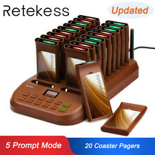 Restaurant T116 Cafe Waiter Wireless Paging Queue Calling System+20Coaster Pager
