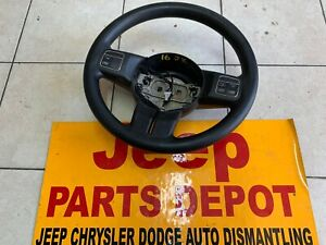 2016 JEEP WRANGLER JK STEERING WHEEL LEATHER W/ CRUISE OEM BLACK 1QK85DX9AI