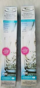 2 Pack Genuine Whirlpool Maytag Refrigerator Ice Water Filter PUR 4396841 HE-4