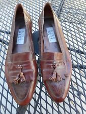 Nine West size 7.5M brown leather loafer with tassels