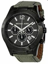 MICHAEL KORS LAYTON MEN'S WATCH MK8188 NYLON GRAY-TONE BAND DATE CHRONOGRAPH