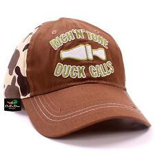 RNT RICH-N-TONE OLD SCHOOL CAMO BROWN ODC HAT BALL CAP DUCK GOOSE CALLS